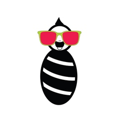 Baby with sunglasses vector