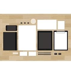 Blank mock-up for brand design presentation on vector image vector image