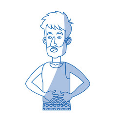 Character man untidy with clothes sleep vector