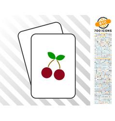 Cherry cards with bonus vector