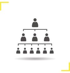 Company hierarchy concept icon vector