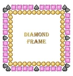 Diamond square frame vector