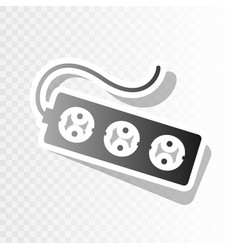 Electric extension plug sign new year vector