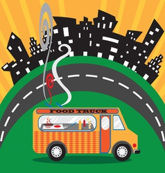 Gastro food truck vector