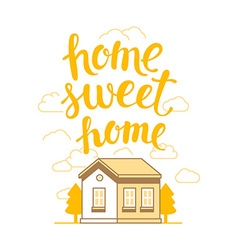 home sweet home poster vector image vector image