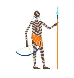 Maasai african man vector image