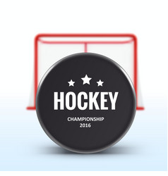 red hockey goal realistic design isolated on white vector image
