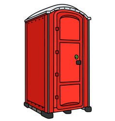 Red mobile toilet vector