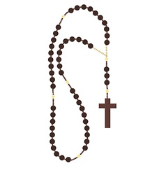 Rosary beads vector image