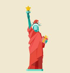 santa statue of liberty vector image vector image