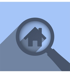 Search House vector image