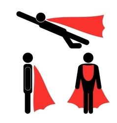 Set of superhero icons vector