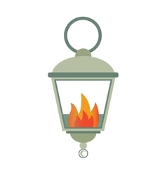 Street fire lamp isolated on white background flat vector image vector image