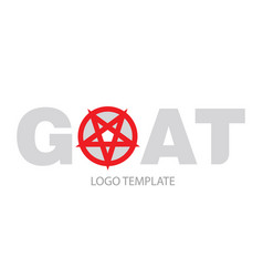 the inscription goat with the pentagram vector image