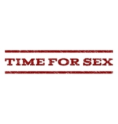 Time For Sex Watermark Stamp vector image vector image
