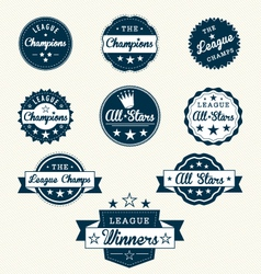 Vintage sports labels vector