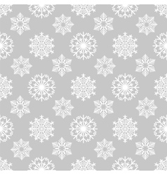 Winter background with snowflakes on grey vector