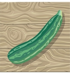 Zucchini on wooden background vector