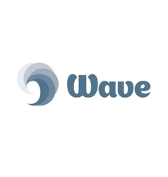 Isolated swirl wave logo water logotype vector