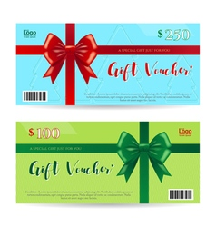 Christmas gift card or gift voucher template vector