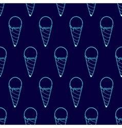 Ice cream easy pattern linear-31 vector