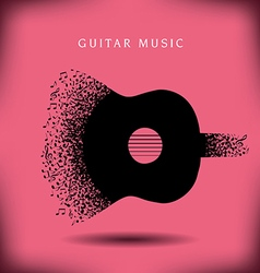Music guitar background vector