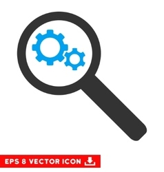 Search gears tool eps icon vector