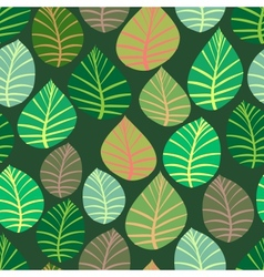 Seamless the leaves and branches vector