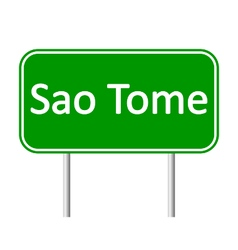 Sao Tome road sign vector image
