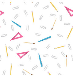 office supplies pattern vector image