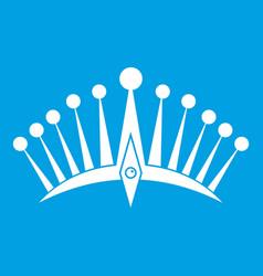 Big crown icon white vector