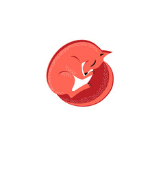 Graphic symbol of a red fox vector