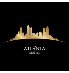 Atlanta Georgia city skyline silhouette vector image