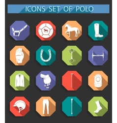 Set of icons polo in flat style vector