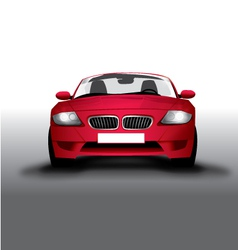 Sports red car front view vector