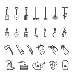 icon set of garden tools vector image