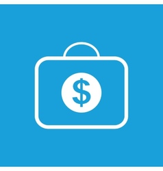 Bag with dollars white icon vector
