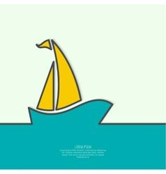 Sailboat sailing in the sea vector