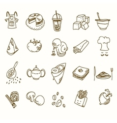 Food cafe set morning breakfast lunch or dinner vector