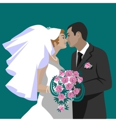 Wedding couple 05 vector