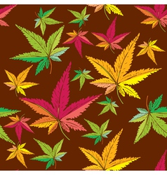 Autumn leaf pattern vector