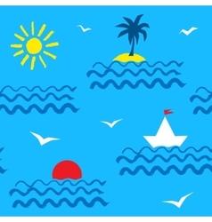 Summer seaside pattern vector image