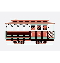 Cable car icon vector