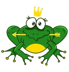 a smiling frog vector image