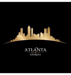 Atlanta georgia city skyline silhouette vector