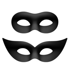 black masquerade carnival party eye masks vector image vector image