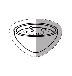 Bowl potion magic icon vector