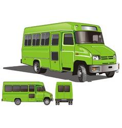 city mini bus vector image