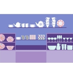 dishes shop vector image vector image