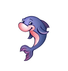 dolphin in cartoon style vector image